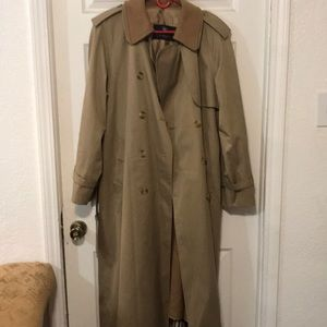 Burberry wool & camel hair trench coat